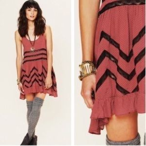 Intimately Free People Voile Lace Trapeze Dress